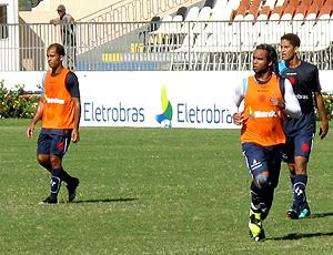 Felipe e Carlos Alberto no treino do Vasco