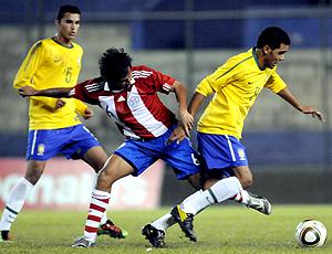 Marcos Gimenez Raphael Augusto Paraguai x Brasil Sub-20