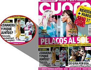 reprodução revista cuore suposto namoro shakira e piqué barcelona