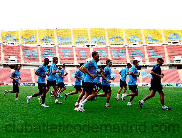 Jogadores treino Atlético de Madrid