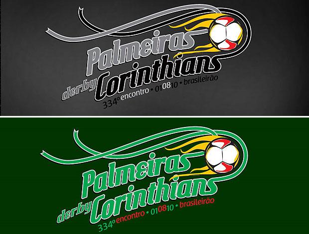 montagem duelo Corinthians Palmeiras clássico