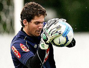 Rafael, goleiro Santos em treino