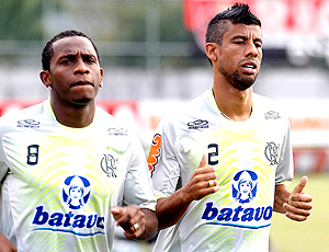 Leo Moura e Willians, treino Flamengo