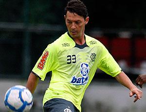 Leandro Amaral no treino do Flamengo