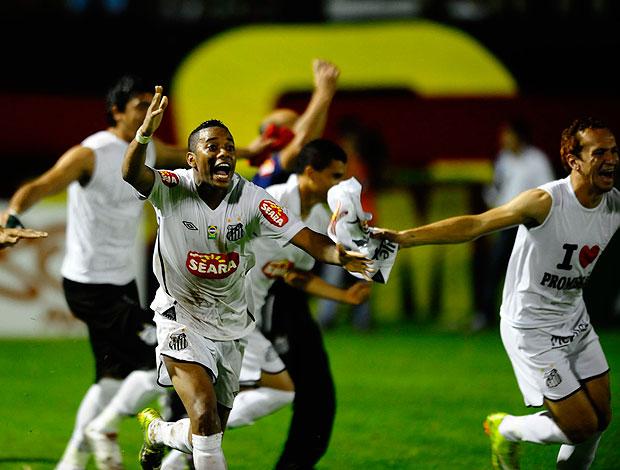 Robinho comemoração Santos campeão