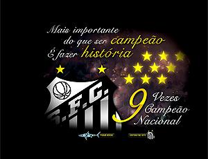 Abertura Site do Santoss 9 vezes campeão nacional