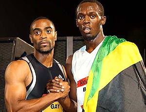 Tyson Gay e Usain Bolt atletismo