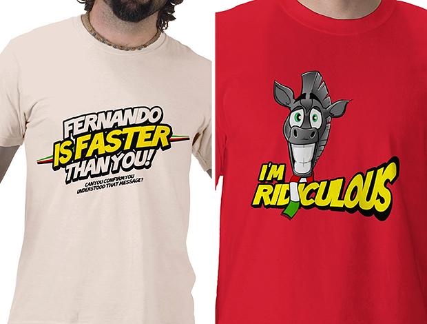Montagem camisas fórmula 1: faster than you, I'm ridiculous