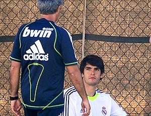 Kaká e Mourinho, Real Madrid treino