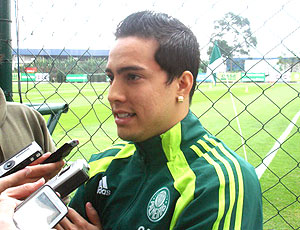 Lenny no treino do Palmeiras