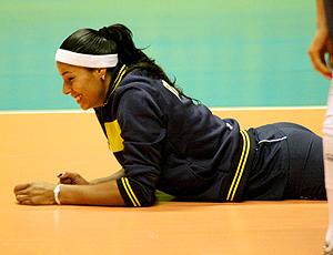 Paula Pequeno, treino Seleção Brasileira Feminina de Vôlei