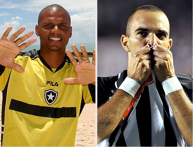 MONTAGEM - Jefferson Botafogo e Diego tardelli atlético-mg