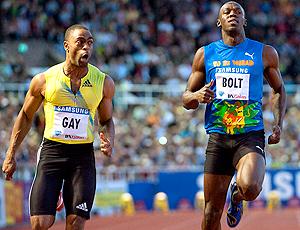 Tyson Gay e Usain Bolt