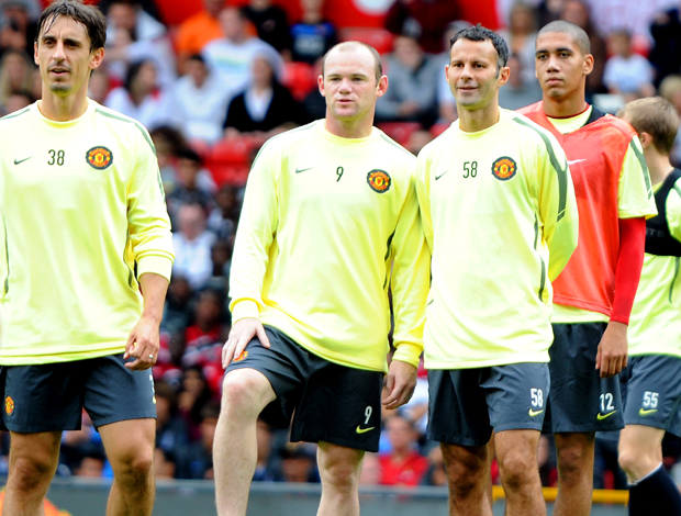 Giggs e Rooney treino aberto do Manchester United