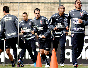Jorge Henrique e Danilo, treino Corinthians