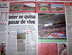 Jornal Récord - México, Internacional Libertadores