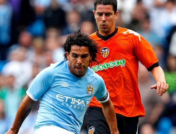 Tevez Manchester City jogo amistoso contra o Valência