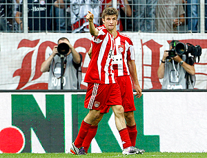 Thomas Müller, Bayern de Munique comemoração gol Shalke 04