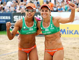 Juliana e Larissa recorde vôlei de praia Polônia
