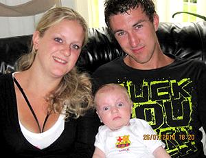 Barça bebê criança Barcelona