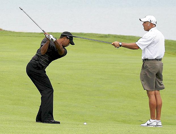 Tiger Woods e Caddie Steve Williams, golfe