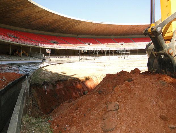 obras no estádio Mineirão