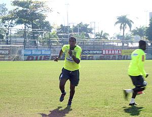 Renato Abreu no treino do Flamengo