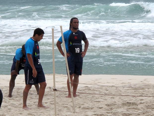 Carlos Alberto, treino Vasco da Gama praia