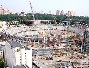 Obras estádio nacional estádio NSC 'Olympiyskiy', Ucrânia - Euro 2012
