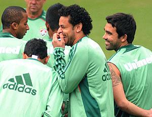 Fred no treino Fluminense