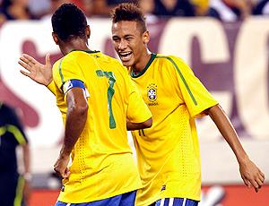 neymar e robinho brasil gol EUA amistoso