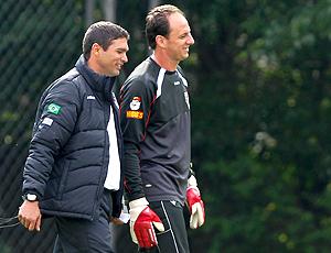 Sérgio Baresi e Rogério Ceni, treino São Paulo