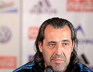 Sergio Batista, técnico interino da Argentina em coletiva