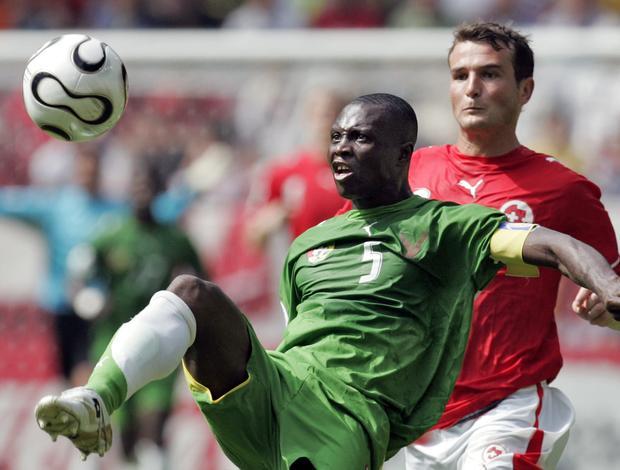 Massamasso Tchangai seleção de Togo contra Suíça na Copa de 2006