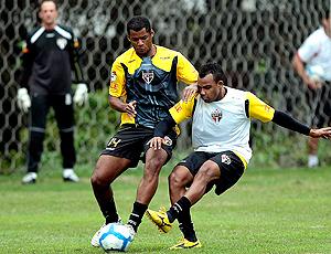 Fernandinho e Rento Silva, treino São Paulo