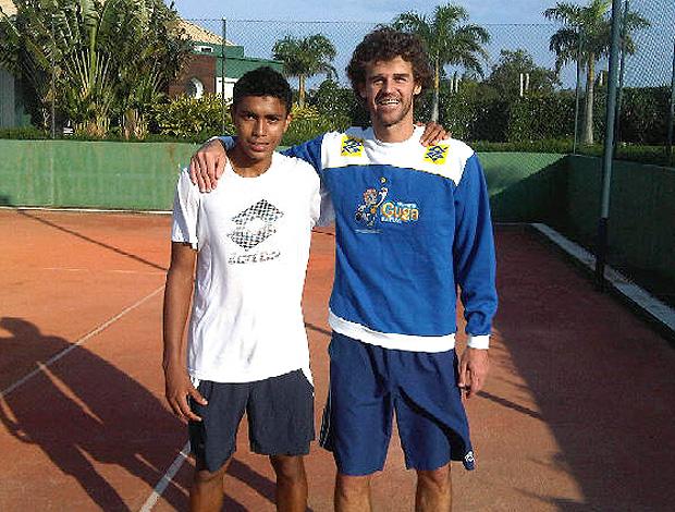 Thiago Monteiro e Gustavo Kuerten Guga tênis