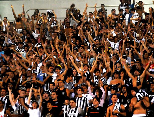 Torcedores do Botafogo vibram com um go do time no Engenhão (Foto
