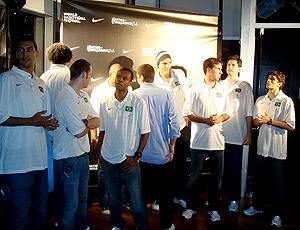 Jogadores da seleção de basquete em festa em Nova York