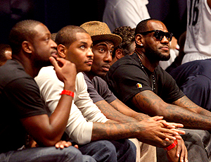 Basquete NBA radio city music Dwayne Wade Carmelo Anthony Amare Stoudemire LeBron James