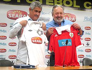 Presidente do Benfica Luís Filipi Vieira e do Santos Luis Alvaro de Oliveira Ribeiro