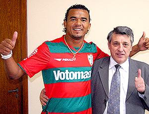 Zé Carlos e Manuel da Lupa Presidente, da Portuguesa