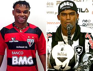 MONTAGEM - Carlinhos bala atlético-Go e Maicosuel botafogo