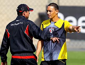 Sérgio Baresi e Ricardo Oliveira, treino São Paulo