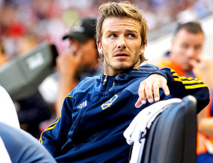 david beckham los angeles galaxy partida contra new york red  bull