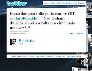 Kaká twitter resposta Ronaldo