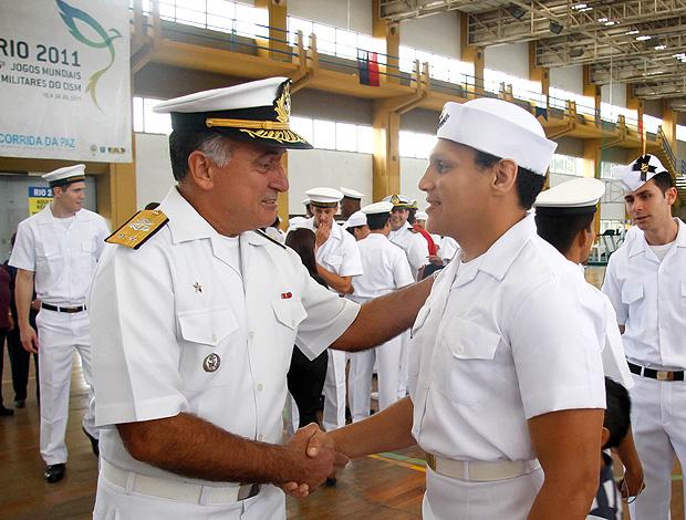 Edinanci Silva na Marinha durante os Jogos Militares