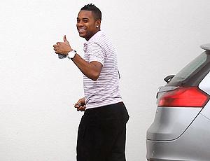 Robinho se apresenta ao Manchester City