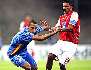 Luis Fabiano do Sporting na partida contra o Braga
