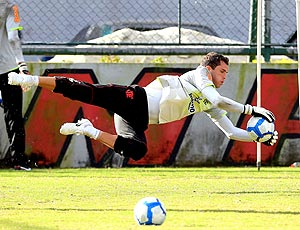 Marcelo Lomba, goleiro Flamengo treino