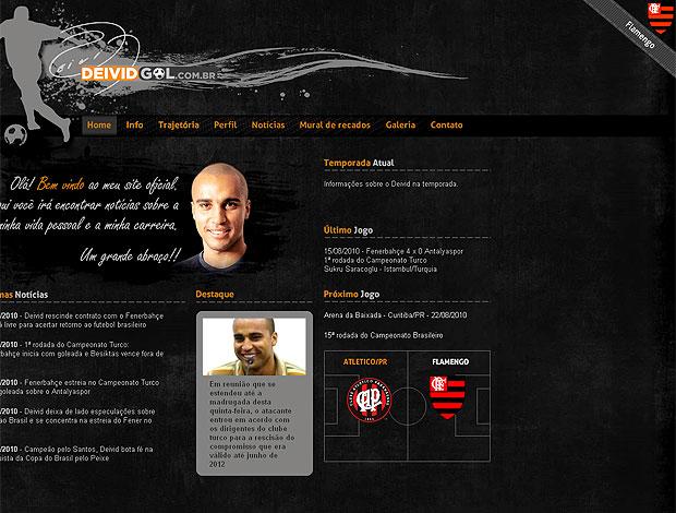 Deivd, site pessoal do jogador, garante ele no Flamengo